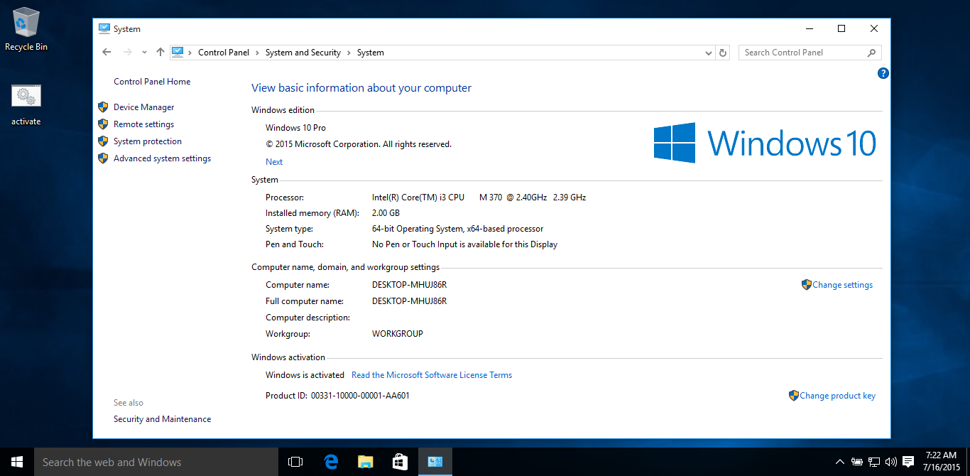 How to activate windows 10 build 10240 ccuart
