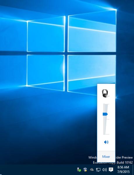 Windows 10 old volume control applet