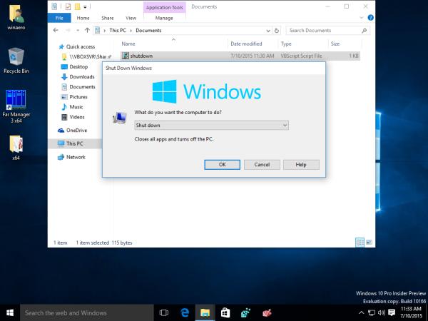 windows 10 classic shutdown dialog