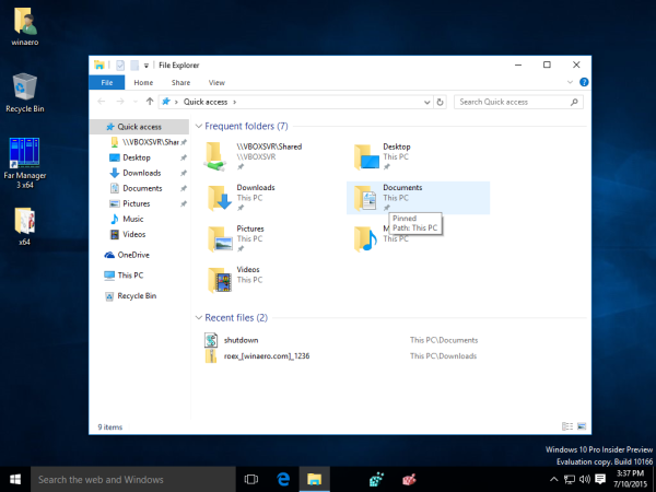 windows 10 hide network icon navigation pane