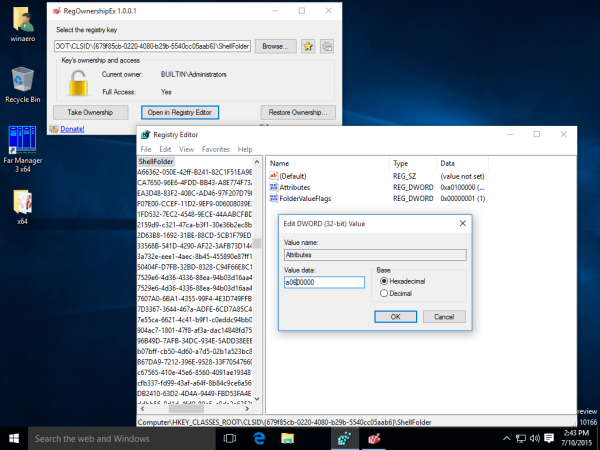 windows 10 hide quick access registry tweak