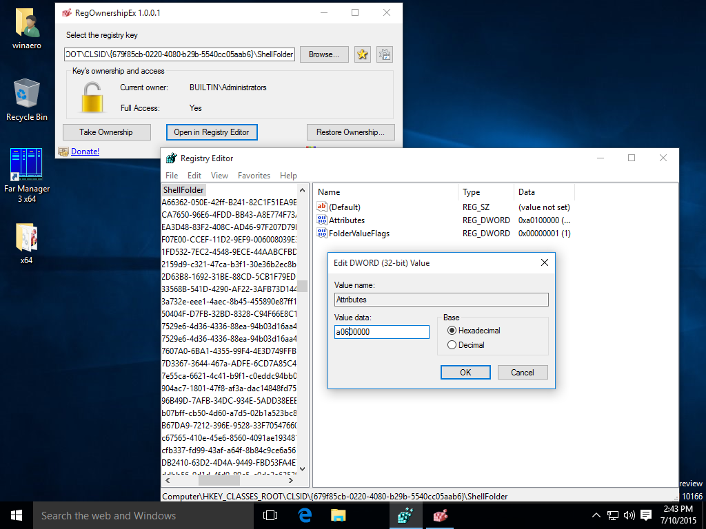 how to delete registry files in windows 10