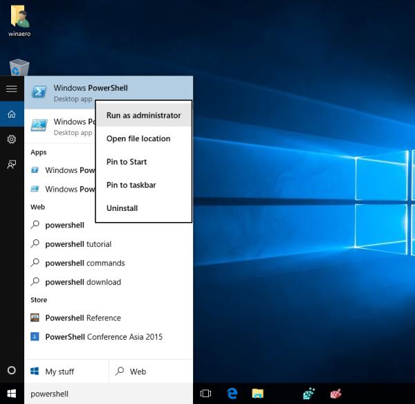 windows 10 powershell run as administrator