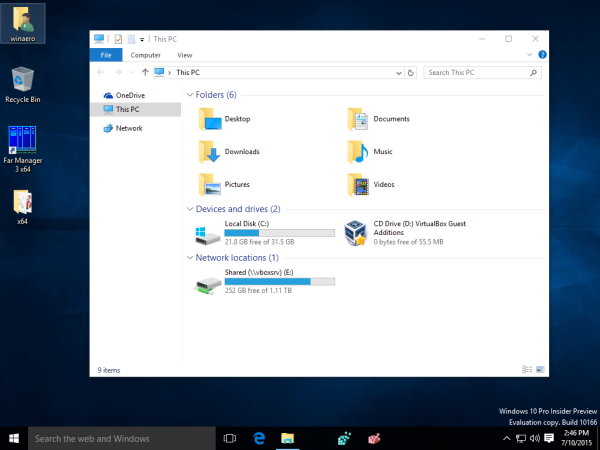 windows 10 remove quick access navigation pane