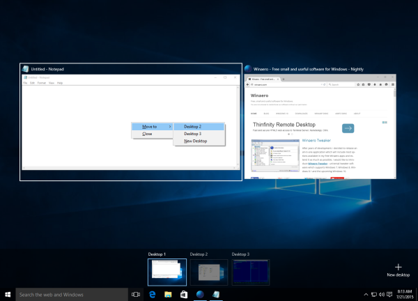 windows 10 task view move window
