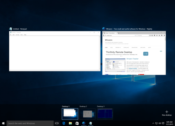 windows 10 task view virtual desktops