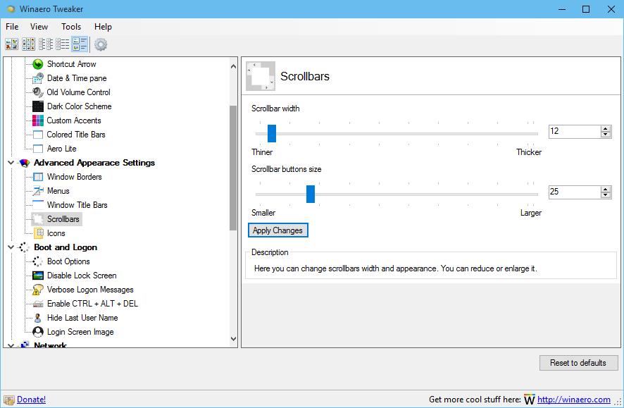 Winaero tweaker 0 3 1 is out features lots of useful tweaks for Window scroll