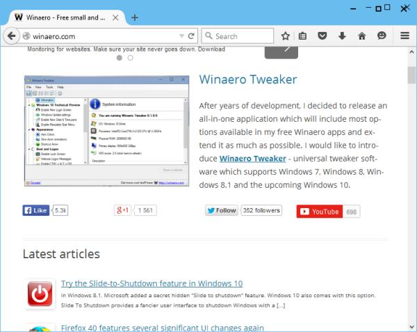 Firefox 40 broken colored titlebars