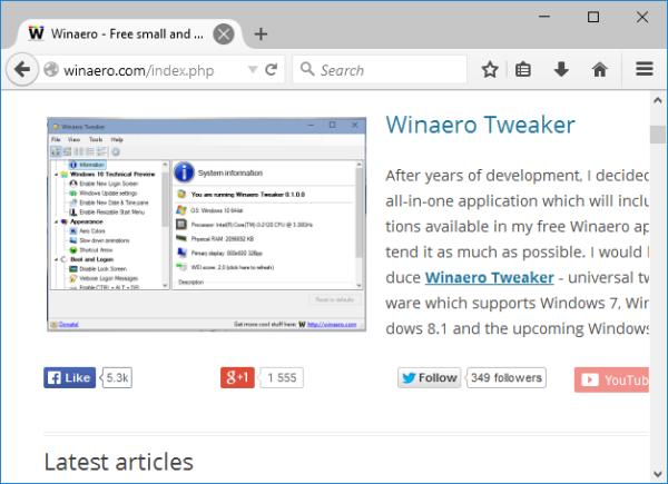 Firefox 40 new theme