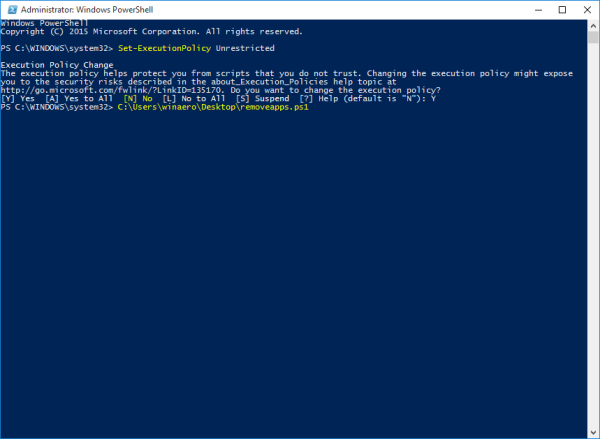 Windows 10 PowerShell remove all apps but keep store