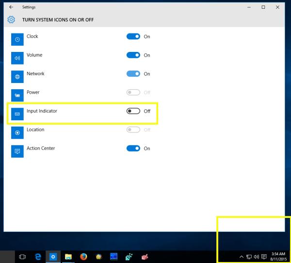 Windows 10 disable input language indicator