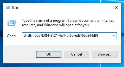 Windows 10 run old notification icons dialog