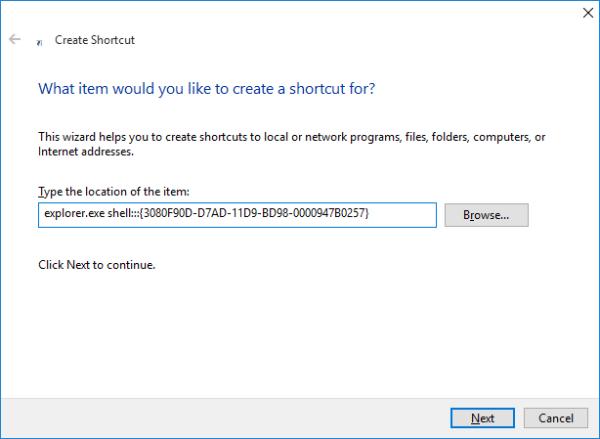 Windows 10 show desktop