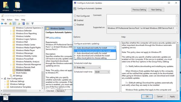 Windows 10 updates notify to download