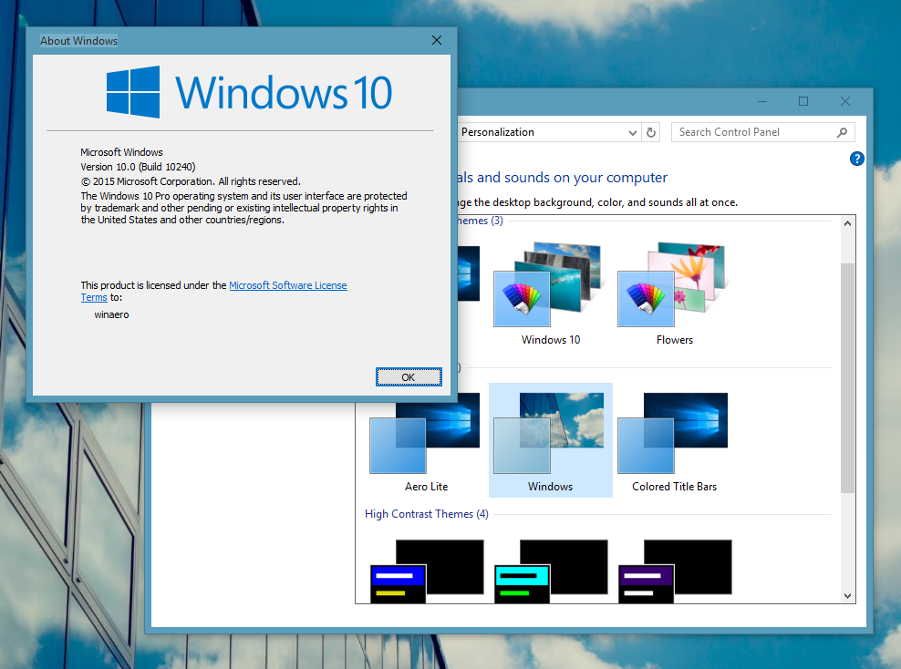 How to install and apply third party themes in Windows 10