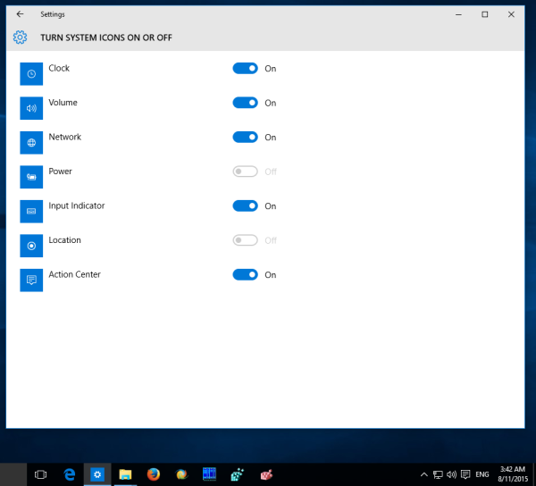 Windows system icons page