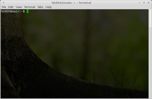 XFCE terminal app