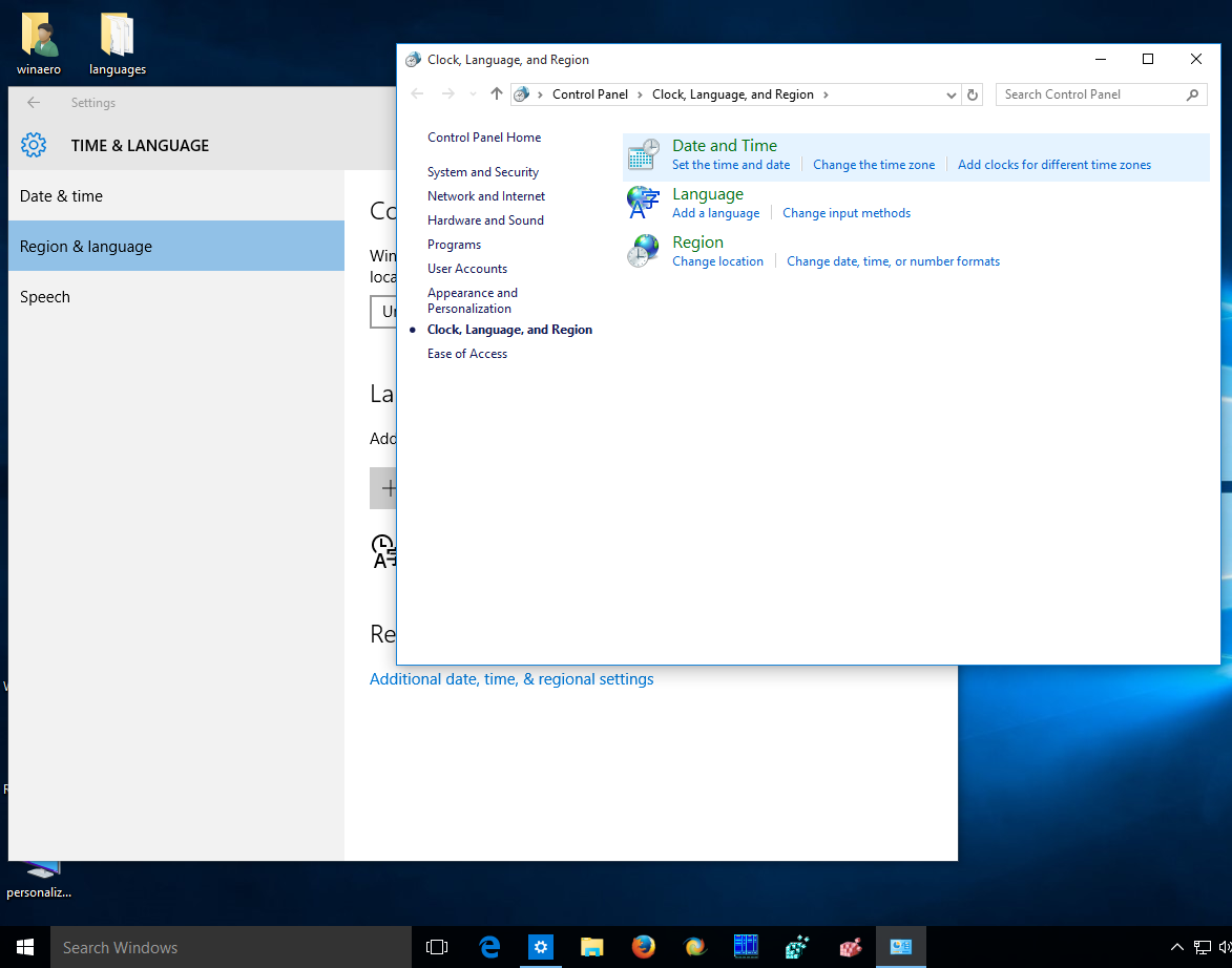 Get old language indicator and language bar in Windows 10