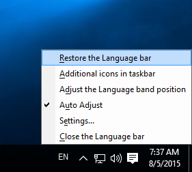 how to change right click language option in windows 10