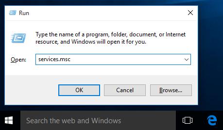 windows 10 run services msc
