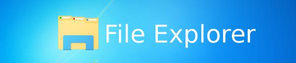 File Explorer logo banner