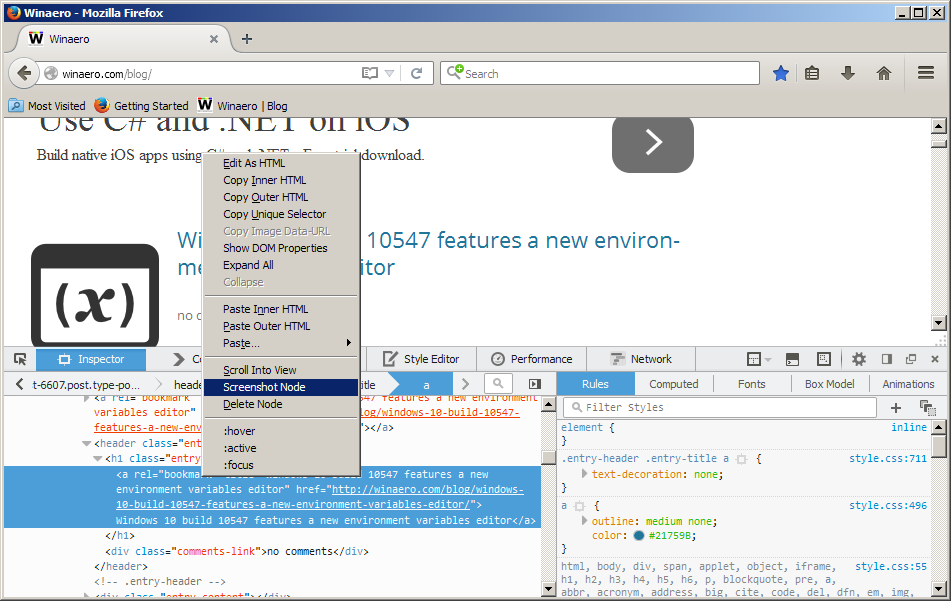 Firefox 41 screenshot node