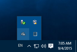 Windows 10 OneDrive notification icon
