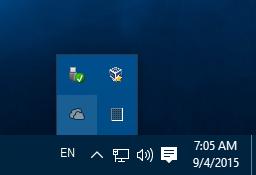 Windows 10 OneDrive notification icon