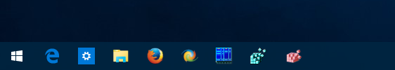 Windows 10 clean taskbar