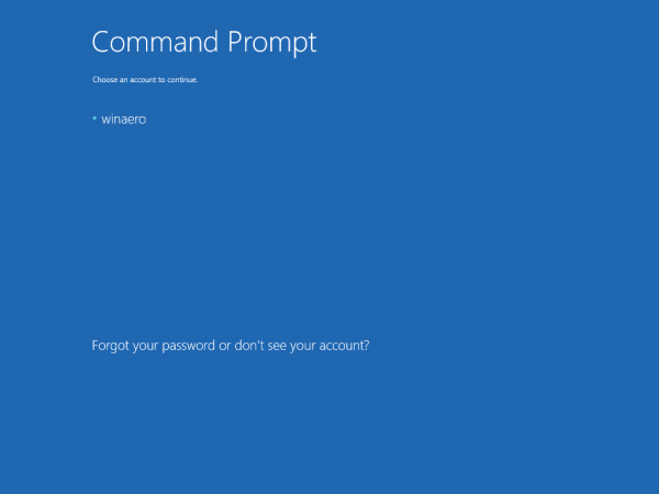 Windows 10 command prompt sign in