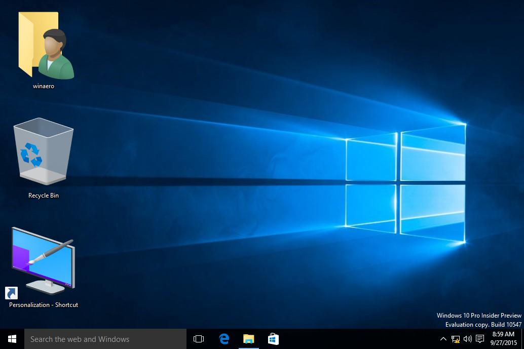 Windows 10 desktop icon size big
