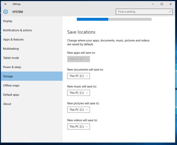 Windows 10 onedrive default save location