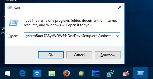 Windows 10 uninstall onedrive