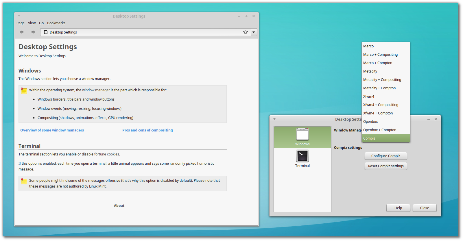 Screen Tearing Testing Report    Mint XFCE, Mate, KDE, Cinnamon