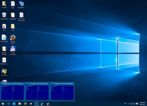 multi window preview Windows 10