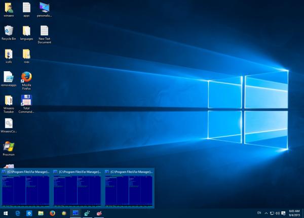multi window preview Windows 10