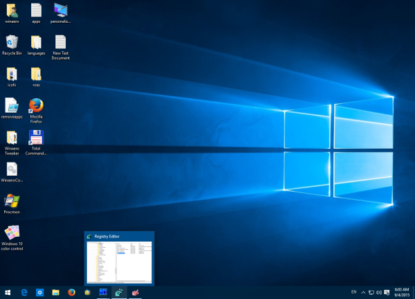 single window preview Windows 10