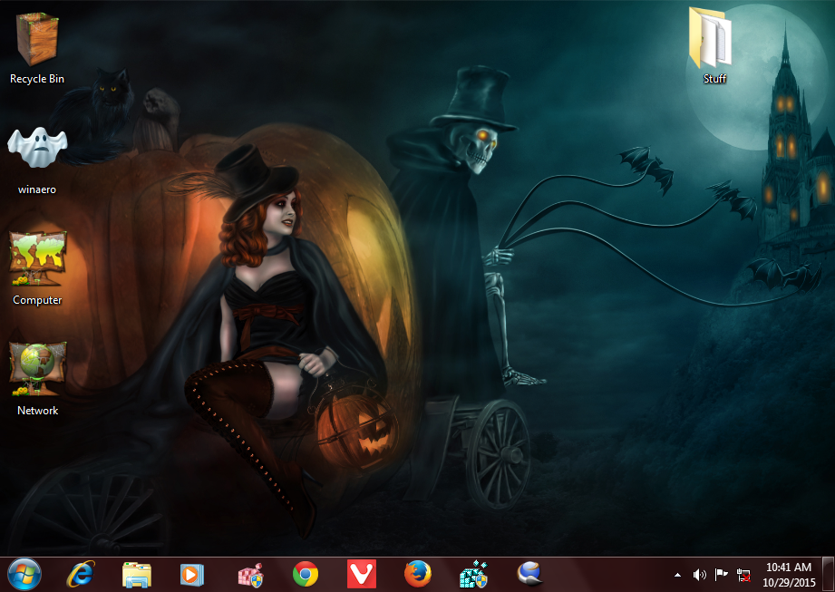 download halloween 2015 theme for windows 10 windows 8 and windows 7 - Windows 7 Halloween Theme