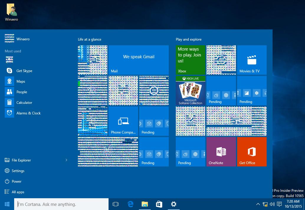 windows 10 start menu not clickable