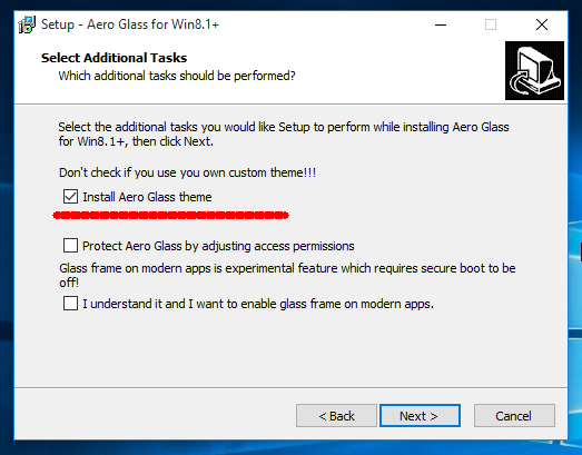 Windows 10 Aero Glass