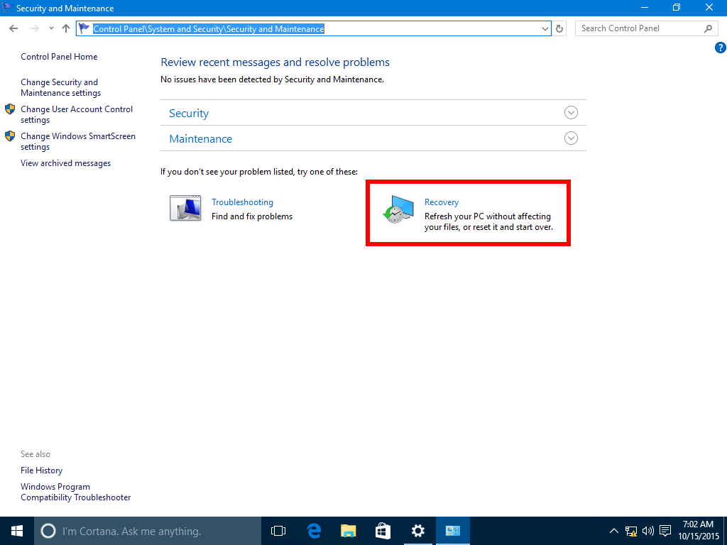recovery windows 10 from usb