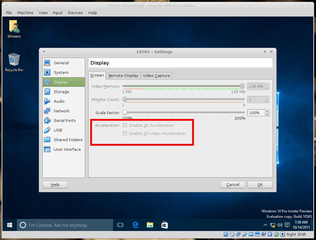 Windows 10 build 10565 + VirtualBox: Fix broken start menu