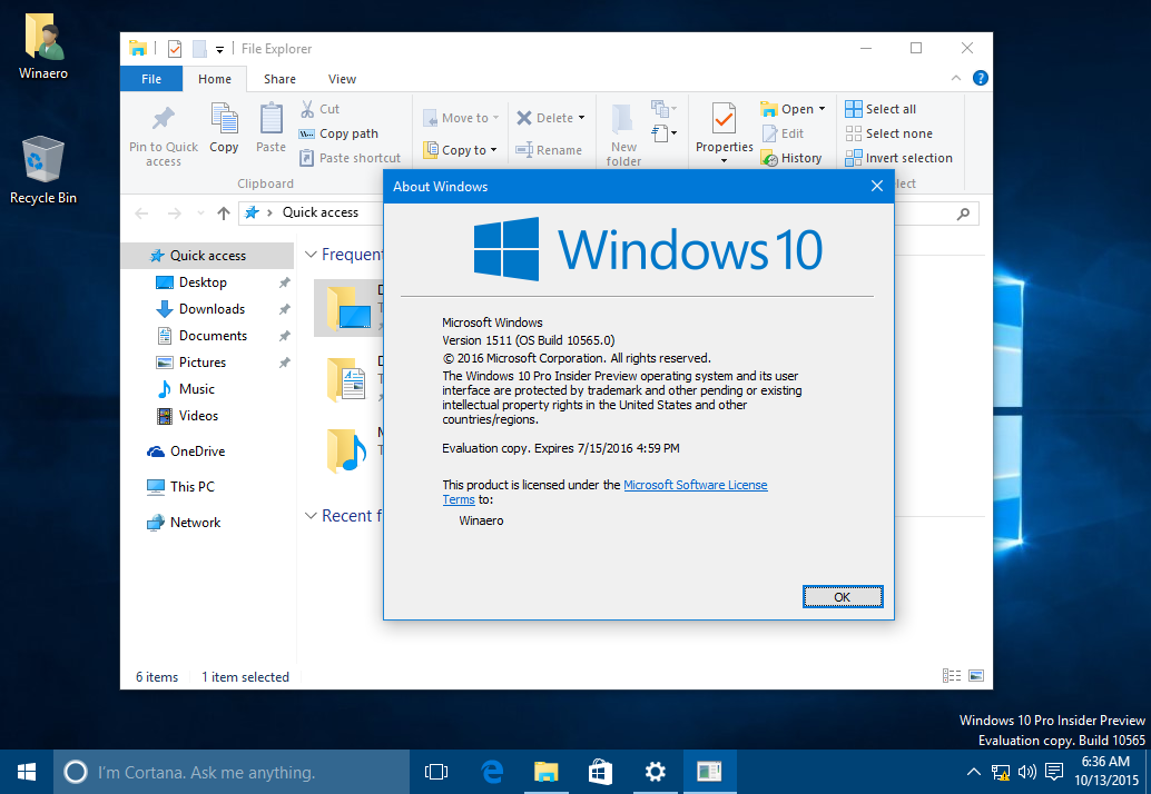 What is new in Windows 10 build 10565 (change log)