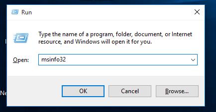 Windows 10 msinfo32