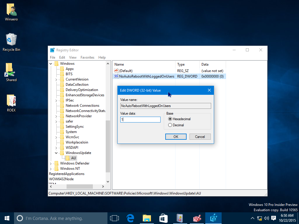How to prevent Windows 10 from automatically rebooting for