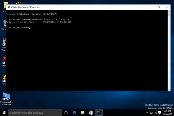 Windows 10 original install date