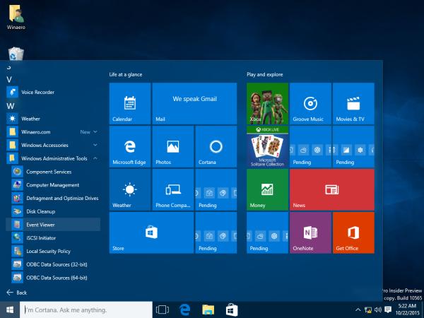 Windows 10 run event viewer