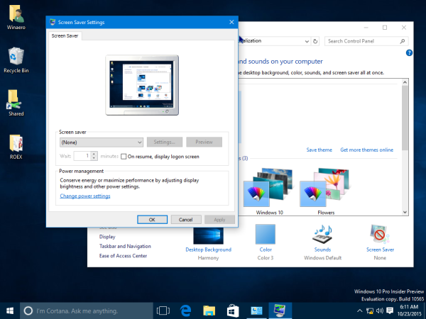Windows 10 screensaver personalization