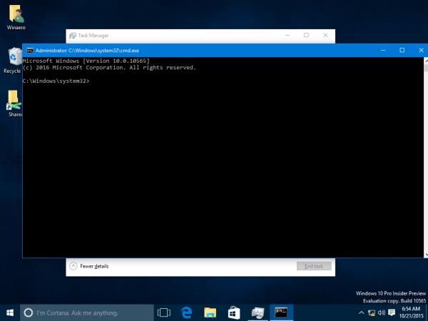 Windows 10 task manager cmd
