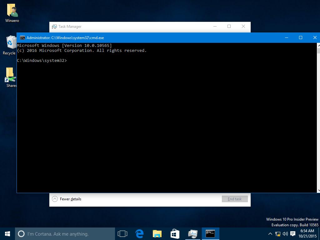 WinaeroA hidden way to open the command prompt in Windows 10